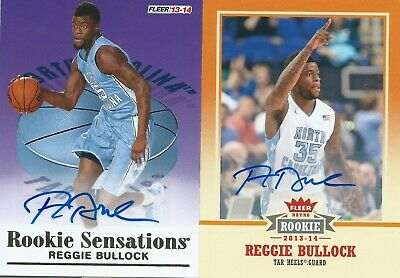 2013-2014 Fleer Retro RC Reggie Bullock Autograph 2 Cards Lot Lakers NBA