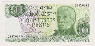 (N24-1) 1971 Argentina 500 Peso UNC bank note (A)