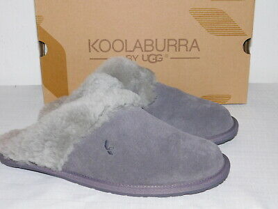 cba43140ac6 New Nib Womens Size 10 Rabbit Grey Koolaburra By Ugg Milo Scuff Slippers  Slides