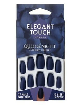 ELEGANT TOUCH False Nails - Queen Of The Night - Midnight Creepin - 24 Nails
