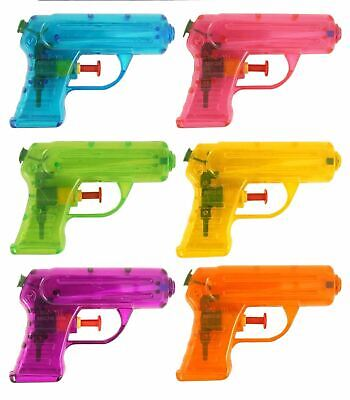 Small Water Gun Pink Orange Green Yellow 11Cm Kids Outdoor Party Toy Gift