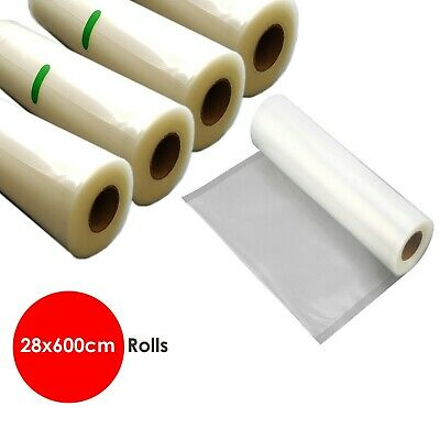 10 Rolls Vacuum Foodsaver Sealer Embossed Bag Storage Commercial Heat Grade 28cm