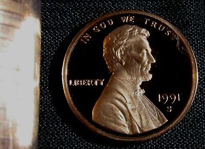 1991-S San Francisco Mint Lincoln Memorial Cent Proof