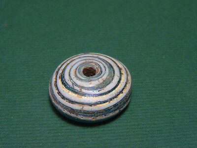 Ancient Spindle Whorl Glass Mosaic Phoenician 300-30 Bc