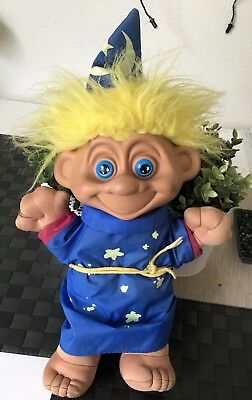Vintage Troll Doll Toymax 1992 Magician Soft Plush Toy 40cm Tall Collectable