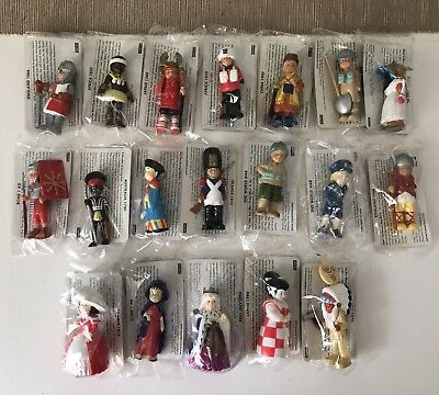 Set Of 19 Mondotime History Figures - With Cards Sealed in Plastic Collectable