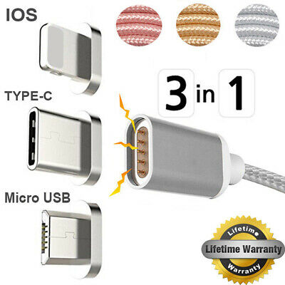 Universel 3ft magnétique Charge Câble Chargeur Corde Pour iPhone Huawei Samsung