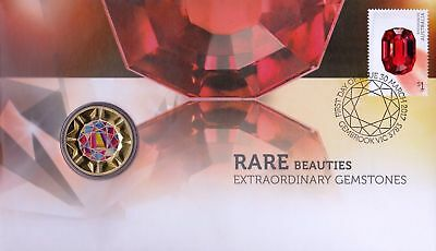 Australia: 2017 Rare Beauties - Extraordinary Gemstones $1 PNC
