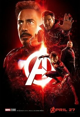 """AVENGERS INFINITY WAR 11""""x17"""" MOVIE POSTER LOT OF 5  DIFFERENT"""
