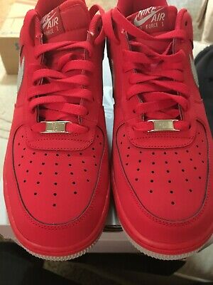 online store f7b51 70f5d 2013 Nike Air Force 1 Low University Red   Strata Grey Sz. 10.5