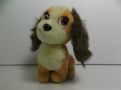 "DISNEY Lady And Tramp Lady Plush Stuffed Dog 7"" tall"