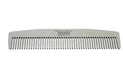 Chicago Comb Model No. 3 Titanium comb, Made in USA, On Sale, SAVE $15 !