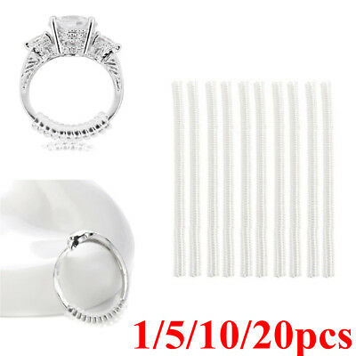 1-20x Ring size reducers Spiral Invisible Snugs Guard RESIZER ADJUSTERS TOOLS IR