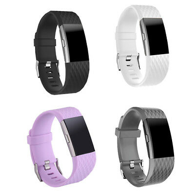FOR Fitbit CHARGE 2 Replacement Silicone Rubber Bands Strap Wristband Bracelet S