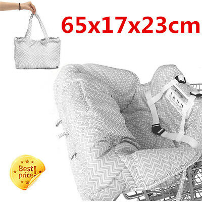 Baby Shopping Supermarket Trolley Cart Seat  Child High Chair Cover Protecor SQ