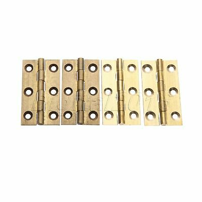 2PCS Brass Furniture Hinges Cupboard Kitchen Cabinet Hinge Invisible Door Hinge