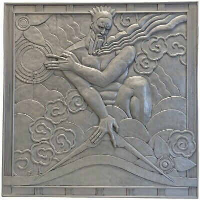 IMPORTANT Art Deco Machine Age Estate Relief Panels Rockerfeller Center + 5 Pdfs