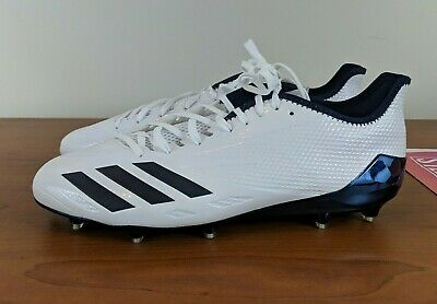 b26b12b30 adidas Adizero 5-Star 6.0 Men s Football Cleats White Navy Blue BW1463 Size  13.5