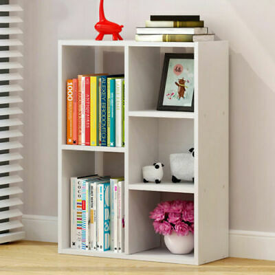 Shelving Home Office Book Shelf 5 Cube Strong Bookcase Display oak Cabinet table