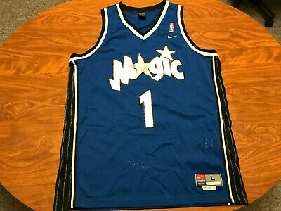 0fa123830 Mens Vintage Nike Tracy Mcgrady Stitched Orlando Magic Basketball Jersey  Large
