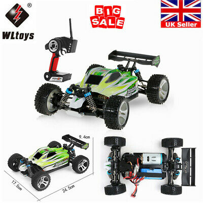 WLtoys A959-A/A959-B 2.4G 1/18 4WD Electric RTR Off-Road Buggy RC Car UK J7X2