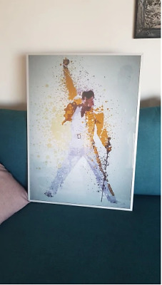 NEW Queen Freddie Mercury OIL Painting Poster 50X70 Canvas Wall Art Picture