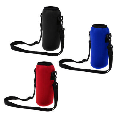 Neoprene Outdoor Sports Water Bottle Bag Holder Shoulder Sleeve Bag 1000ml