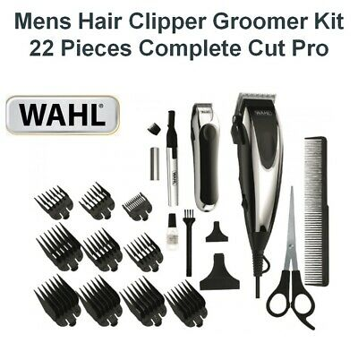 Wahl Pro Cut Hair Clippers Mens Haircut Groomer Beard Shaver Trimmer Nose 22Pc