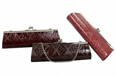 Bulk Lot x 3 Ladies Clutch Handbags 3 Trendy Fashion Colours NEW Xmas Gifts