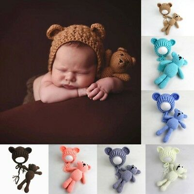 Infant Newborn Baby Boy Girl Photography Prop Outfit Knit Crochet Costume New