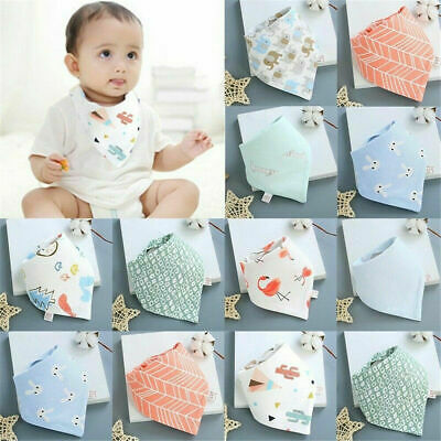 Soft Cotton Infant Baby Bibs Feeding Saliva Towel Triangle Bandana Cute Scarf
