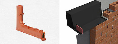 50 x Concealed Brick Tunnel Peep Weep Vents Cavity Wall Timloc TW1 Terracotta