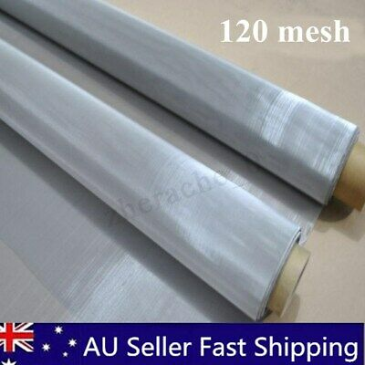 AU 120 Micron Mesh Stainless Steel Woven Wire Cloth Screen Filter Sheet 90x30cm