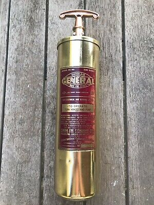 Antique Vintage Quick Aid GENERAL Fire Extinguisher USA extremely RARE MAN CAVE