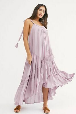 b9f417191e804 188792 NWT Free People Bare it All Maxi Dress Tiered Ruffle Endless Summer M