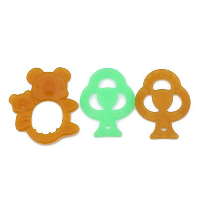 Animal Bear Leaf Shape Baby Teether Silicone Infant Dental Chew Training Tool B