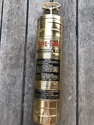 Antique Vintage FIRE GUN Fire Extinguisher CANADIAN extremely RARE. GREAT GIFT