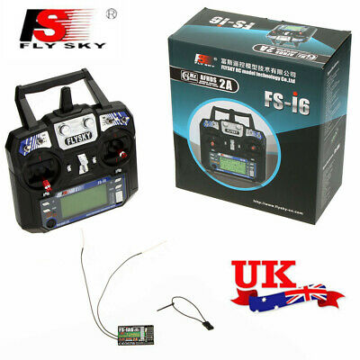 Flysky FS-I6 2A 2.4G 6CH Transmitter & Receiver For RC Helicopter UK Ship H0Z2