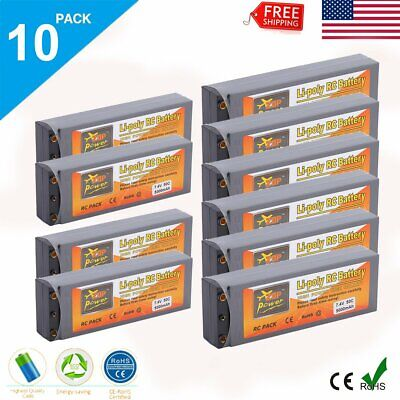 10X 7.4V 2S 50C 5000mAh LiPo Battery T Plug for RC Helicopter Drone Car Boat LOT