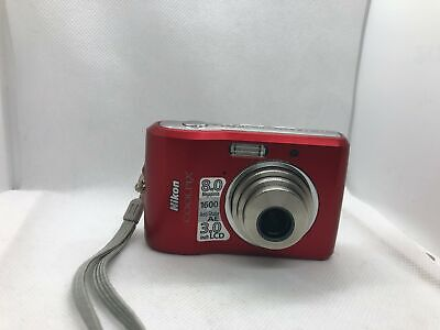 Nikon Coolpix L18 8MP Digital Camera with 3x Optical Zoom (Red)