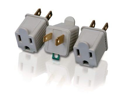 Nuevo Philips 3pk 3/2 Grounding Adaptador Philips