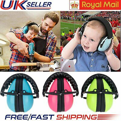 UK Stock Baby Kids Folding Ear Defenders Noise Reduction Protectors Muff