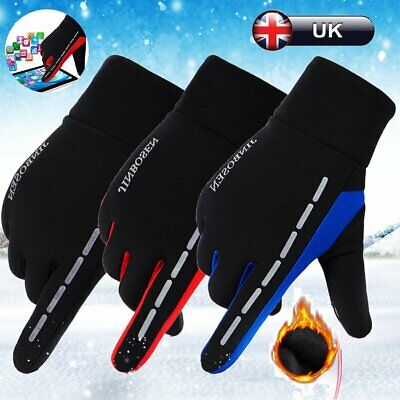 Cycling Gloves Bicycle MTB Bike Full Finger Winter Sport Gel Padded Touchscreen