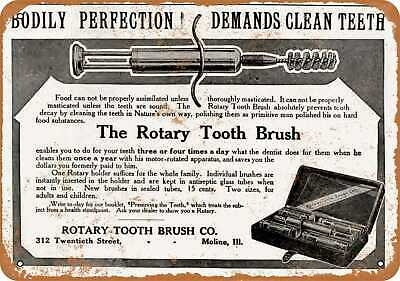 Metal Sign - 1907 Motorized Rotary Tooth Brushes - Vintage Look Reproduction