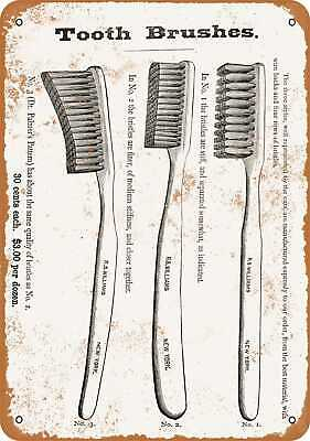 Metal Sign - 1878 Tooth Brushes - Vintage Look Reproduction