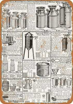 Metal Sign - 1919 Sears Milk Cans and Dairy Implements - Vintage Look Repro