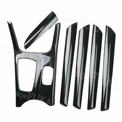 For BMW X3 F25 X4 11-16 Carbon Fiber Style Interior Kit Gear Door Set Cover Trim