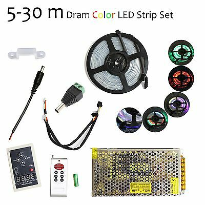 5-30M RGB 133 Dream Color 5050 6803 IC Waterproof LED Strip + Remote + Power
