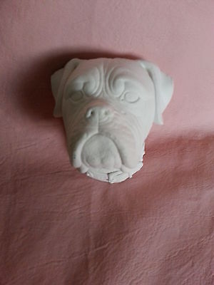 Dog rubber latex mould mold wall hanging decoration plaque plaster concrete new