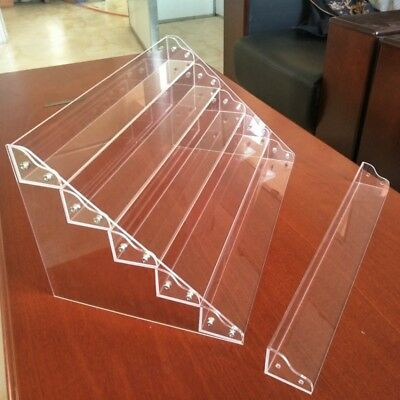 Clear Acrylic 6 Tier Display Shelf Showcase Case for Action Figure Toy Cosmetics